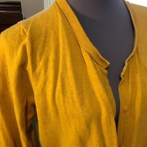Sweaters - Perfect fall cardigan saffron gold xxl